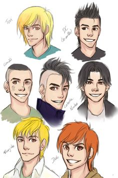 Só alguns rascunhos dos garotos ( os meus favoritos ) do universo da Turma da Mônica Jovem. Acho que de todos, o que esta menos reconhecível é o Franjinha xD