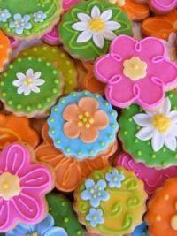 Biscoitos em formato de flor