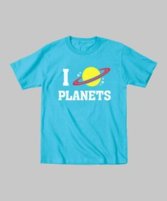 Take a look at this Turquoise 'I Love Planets' Tee - Toddler & Kids by KidTeeZ on #zulily today!