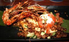 Miss Foodie reviews Cove Bar + Dining (River Quay Southbank Brisbane) - King Prawn Nasi Goreng, Chicken, Soft Egg, Fried Shallot, Cucumber Salsa