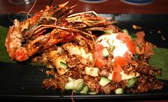 Miss Foodie reviews Cove Bar + Dining (River Quay Southbank Brisbane) - King Prawn Nasi Goreng, Chicken, Soft Egg, Fried Shallot, Cucumber Salsa