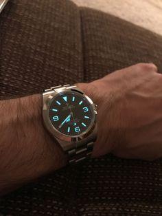 Wrist shot, Rolex Explorer I, 214270