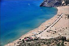 Ρόδος (Rhodos,Rhodes,Rodos)  Tsampika beach The breathtaking view from Panagia Tsambika Monastery — στην τοποθεσία Tsampika - Tsambika Beach.