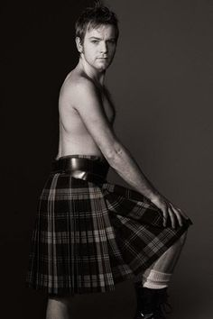 Ewan Mcgregor wearing kilt