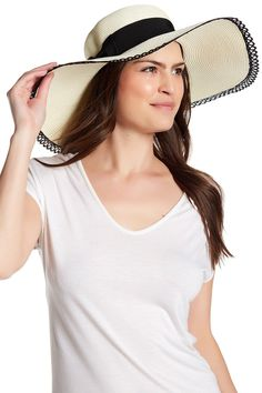 Lace Trim Floppy Hat
