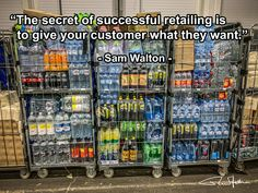 """The secret of successful retailing is to give your customer what they want. Supply Chain Logistics, The Secret, Success, Quotes, Quotations, Quote, Manager Quotes, Qoutes, A Quotes"