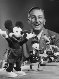 Walt Disney, of Walt Disney Studios, Posing with Some Famous Cartoon Characters by J. R. Eyerman. Premium photographic print from Art.com.