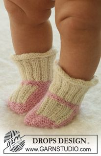 Baby - Free knitting patterns and crochet patterns by DROPS Design Baby Knitting Patterns, Knitting For Kids, Free Knitting, Knitting Projects, Knitting Socks, Crochet Patterns, Drops Design, Baby Gifts To Make, Cute Baby Gifts