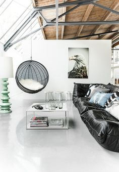 Hanging chair and comfy sofa   HK Living