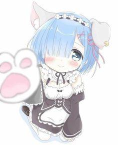 Chibi kawaii des - Re Zero Anime Neko, Kawaii Anime Girl, Anime Girls, Lolis Neko, Loli Kawaii, Chica Anime Manga, Anime Art Girl, Desu Desu, Ram And Rem