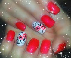 black and orange by nails4love - Nail Art Gallery nailartgallery.nailsmag.com by Nails Magazine www.nailsmag.com #nailart