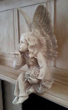 Statue Tattoo, Fairy Statues, Garden Statues, Buddha Statues, Angel Decor, Angel Art, Statue Art, Sculpture Art, Sculptures