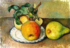Still LIfe with Apples and a Pear Paul Cezanne -...