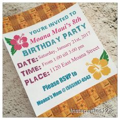 A personal favorite from my Etsy shop https://www.etsy.com/listing/501890507/digital-polynesian-birthday-party
