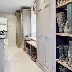 8 country-style boot room designs Design yourself a well-organised boot room with plenty of practical storage to act as a stylish transitional space for just-out-of-the-rain coats and muddy wellies Built Ins, Laundry Mud Room, Boot Room, House, Shoe Storage, Utility Rooms, Room, Room Design, Mudroom