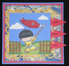 Katsura Wishing You a Happy Boys Day Boys Day, Child Day, Asian Crafts, Happy Boy, Japanese Boy, Geisha, Are You Happy, Card Ideas, Stamps