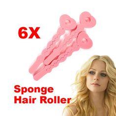 6ピースマジックヘアサロンケアローラースポンジカーラー新しい髪カーラーローラーマジックヘアカーラー
