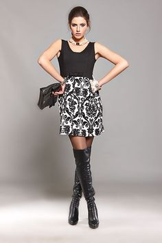 We found the must-have dress to enjoy new year's eve! And don't forget that a pair of over the knee leather boots will give extra sexy points to your outfit... #2015 #newyear