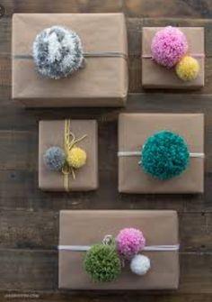 Pompom gift wrap!