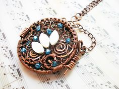 handmade-necklace-pendant-copper-wire-jewelry-wire-wrapping-wrap-wrapped-jewellery-glass-beads-mother-of-pearl-pictures-lov-goft-2.jpg (1800×1350)