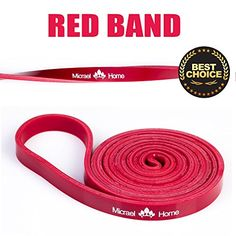 Micrael Home Heavy Duty Pull up and Powerlifting Bands By Drapers Strength  Add Resistance For Stretching Exercise and Assisted PullupsOne Band Per OrderRed >>> Learn more by visiting the image link.
