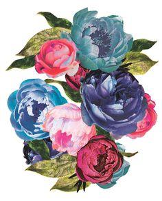 Rocker Flowers Print