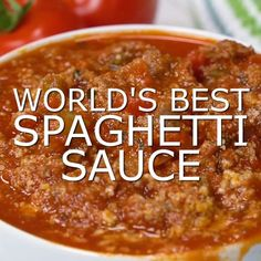 This homemade spaghetti sauce is such an easy recipe. Nothing beats from scratch cooking that can easily be converted to the Crockpot or Instant Pot to suit your plans for the day. Ground beef, hot italian sausage, vegetables, and let's not forget – parme Pasta Sauce Recipes, Beef Recipes, Cooking Recipes, Healthy Recipes, Pasta Sauces, Recipies, Cheap Recipes, Lasagna Sauce Recipe, Hot Sausage Recipes