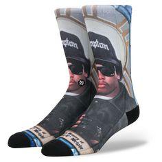 Stance Mens Praise Eazy E Socks ($11) ❤ liked on Polyvore featuring men's fashion, men's clothing, men's socks, mens cotton socks and mens socks