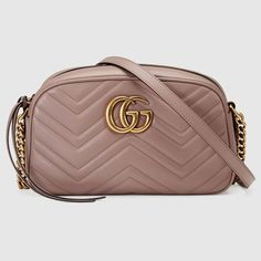 5b2be35f67c245 Shop the GG Marmont small matelassé shoulder bag by Gucci. The small GG  Marmont chain