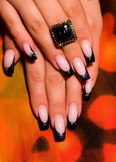 French manicure against cracking nails