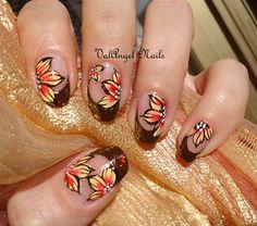 """Nail art """"Autumn Leaves"""" by ValangelNails - Nail Art Gallery nailartgallery.nailsmag.com by Nails Magazine www.nailsmag.com #nailart"""