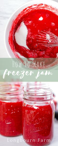 Learn all the tips and tricks for making perfect freezer jam every time. All you need is a bowl, a whisk and some time! No cooking required! Top Recipes, Best Dessert Recipes, Delicious Recipes, Easy Recipes, Easy Meals, Healthy Recipes, All You Need Is, Yummy Eats, Yummy Food