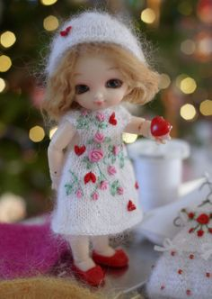 Happy Valentine's day from my tiny Pukipuki Sugar doll by Fairyland.