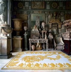 Military Brocade Ivory by Alexander McQueen for The Rug Company