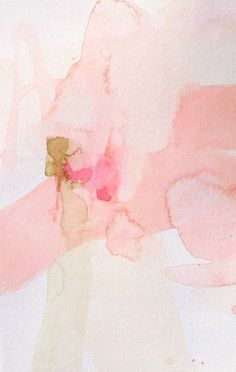 blush pink statement artwork, place above crib? Painting Inspiration, Art Inspo, Art Et Illustration, Abstract Watercolor, Pink Watercolor, Abstract Art, Watercolor Texture, Abstract Paintings, Art Paintings