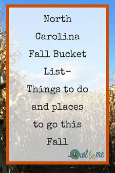 North Carolina Fall Bucket List- Things to do and places to go this Fall Fall, or autumn if you prefer, is one of my favorite times of year. Especially in a state like North Carolina. Where I live, as far south and east as you c South Carolina, Ashville North Carolina, Boone North Carolina, Ashville Nc, North Carolina Homes, Fort Bragg North Carolina, Nc Mountains, Nostalgia, Bon Voyage