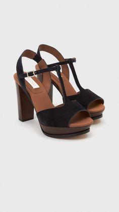 See by Chloe T-Strap Platform Sandal in Black | The Dreslyn
