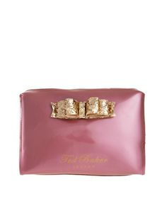 This is pretty and perfect! Ted Baker glitter bow makeup bag.