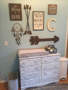 Arrow themed boy nursery