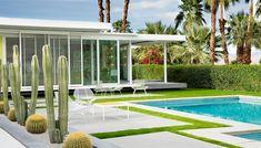 Ideas Mid Century Modern Outdoor Lighting Palm Springs For 2019 Modern Landscape Design, Modern Landscaping, Modern Interior Design, Palm Springs Interior Design, Landscaping Rocks, Landscaping Design, Patio Design, Mid Century Landscaping, Moderne Pools