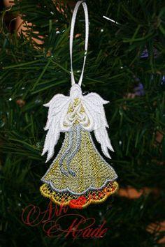 handmade lace Angel custom Christmas ornament - pinned by pin4etsy.com