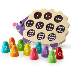 Wooden Maze Puzzle Educational Table Game crafted brightly painted baby toddler