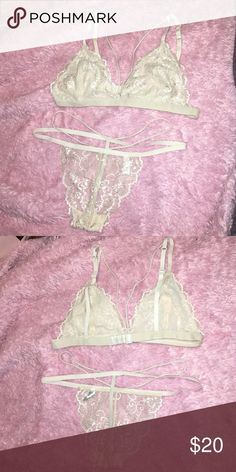 Brallet  it with sexy thong Super sexy and soft great for brides or Valentine's Day Intimates & Sleepwear Bras
