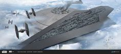 The Executor, Vader's personal Command in orbit near the Bespin mining colony