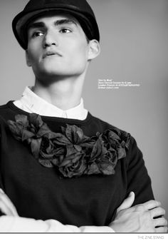 Pablo Otero Shows a Different Side in Black & White Glamour Photos for The Zine Stand image Pablo Otero Model Editorial 005