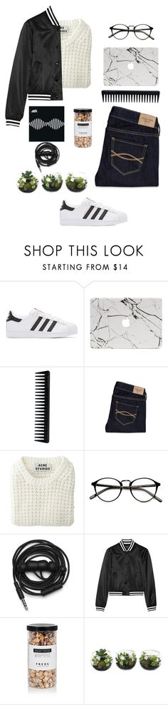 """0011"" by lemonayde ❤ liked on Polyvore featuring adidas Originals, GHD, Abercrombie & Fitch, Acne Studios, Urbanears, R13 and FREDS at Barneys New York"