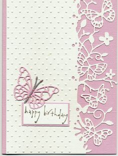I plan on using my many large size border punches (Martha Stewart) to make this style of card.