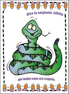 HERMOSAS Y GRACIOSAS TARJETAS DE RIMAS CON NOMBRES DE ANIMALES PARA LEER Y SEGUIR LEYENDO.