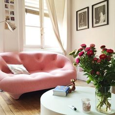 Lovely home furnished with Ligne Rosets Ploum sofa! Live Beautifully…