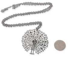 Peacock Necklace - Antique Silver [004143]